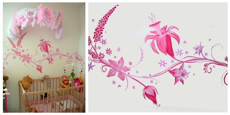 Galerie for Peinture chambre petite fille