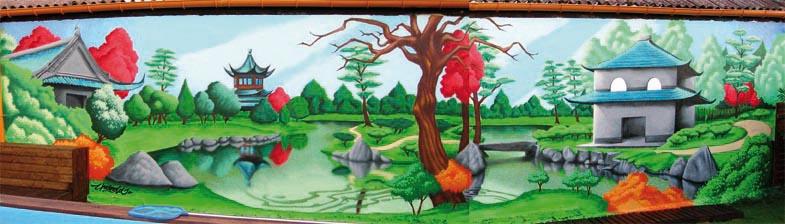 Galerie - Fresque sur mur exterieur ...